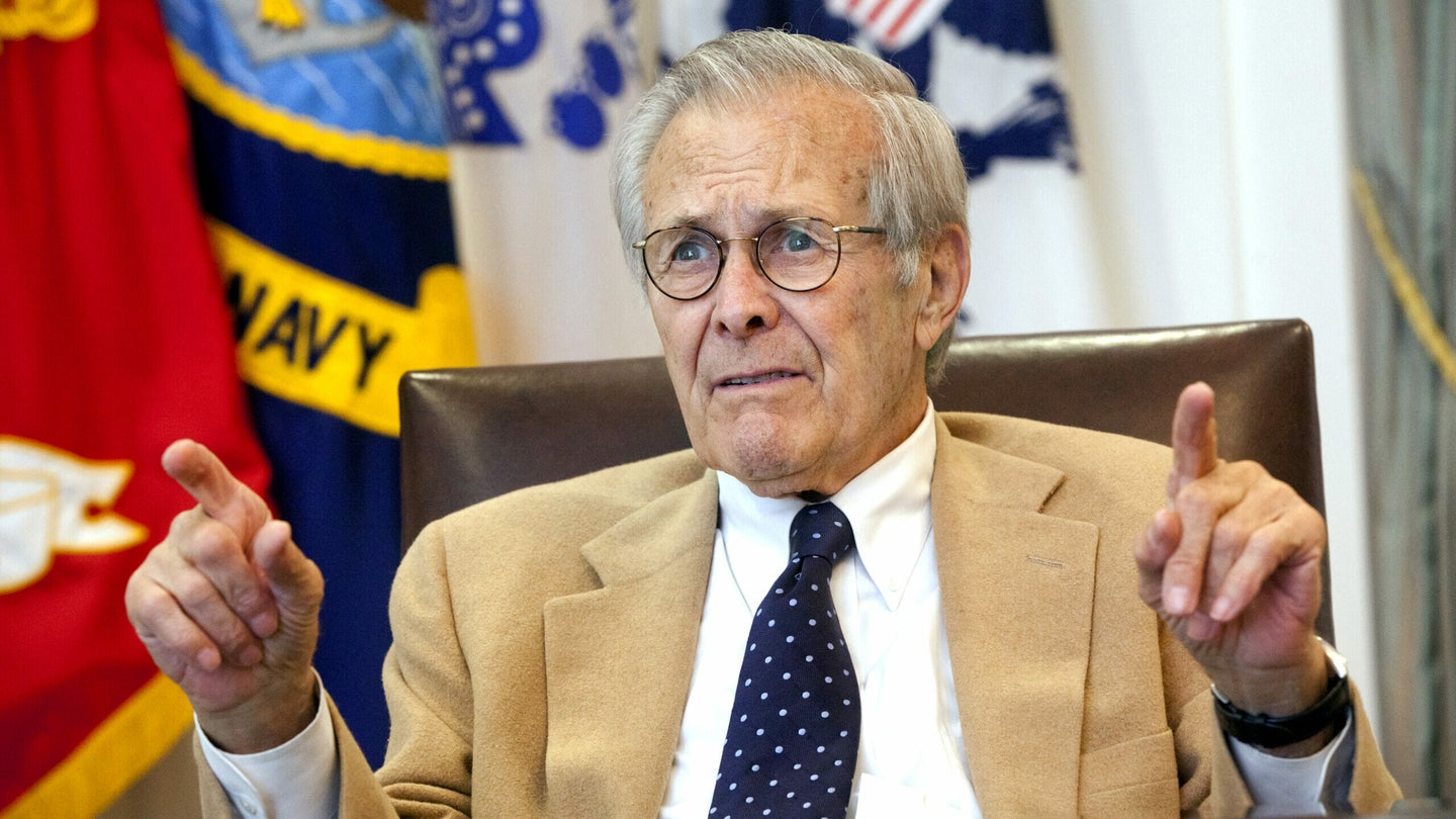 My date with Rummy: The late former Defense Secretary was as wily as ever