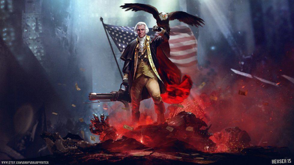 Goerge Washington on Fire