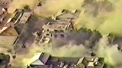 This video captures the 'catastrophic impact' that kicked off the fierce 'Black Hawk Down' mission 28 years ago