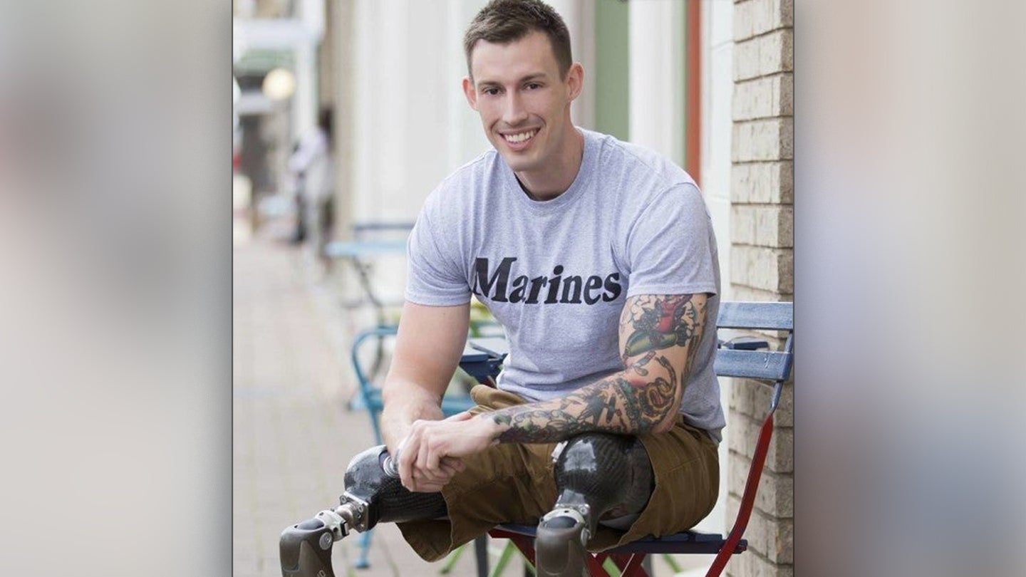 Nine years after losing both legs in Afghanistan, he's found purpose in family, friends and inspiring others
