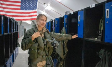 A pilot with the callsign 'Banzai' is the first woman to fly the F-35 in combat