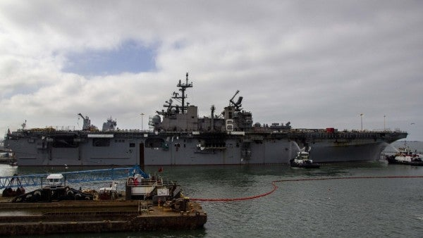 Navy: firefighting crews making 'significant progress' putting out USS Bonhomme Richard blaze