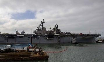 Navy: firefighting crews making 'significant progress' putting out USS Bonhomme Richard blaze