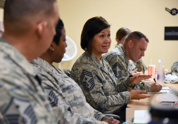 This airman will become the first female senior enlisted leader for a military branch