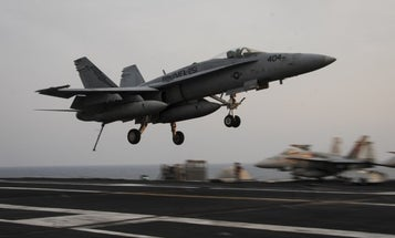USS Theodore Roosevelt aviators eject safely at sea