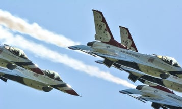 Thunderbirds, Blue Angels flyovers to begin next week and continue into May