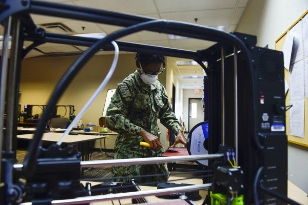 'We can crank these out' — Navy Seabees 3D-print 2,500 masks a day for sailors