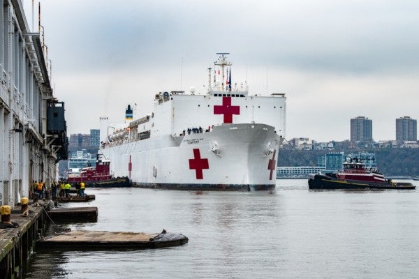 'Very easy to get down and be exhausted' — On the front line aboard the USNS Comfort