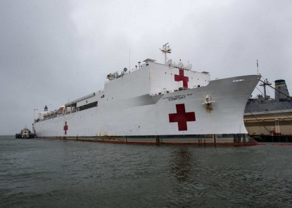 'This is what I signed up for'—Navy combat nurse ready to treat the hell out of patients aboard hospital ship Comfort