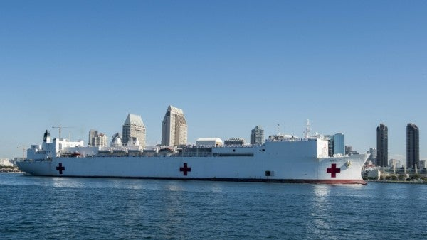 Navy sends hospital ship to Los Angeles to lighten the load for doctors swamped by COVID-19