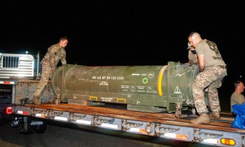 Civilian airport evacuated after live missile found just sitting inside shipping container