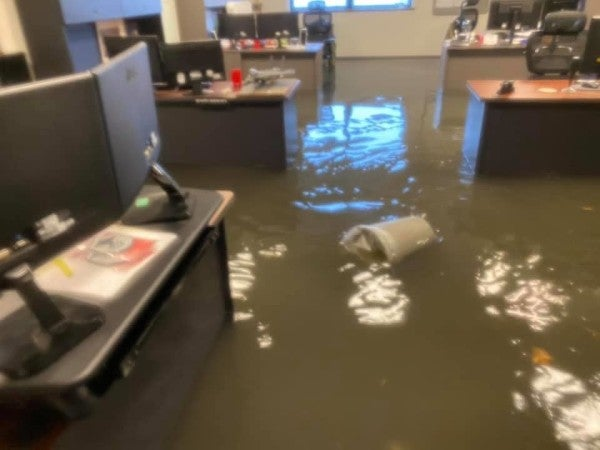 Flash floods basically sunk Scott Air Force Base for a few hours