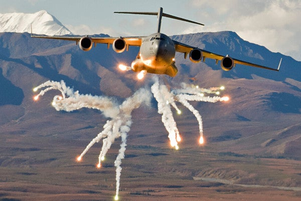 The Air Force is experimenting with turning cargo planes into flying munitions trucks
