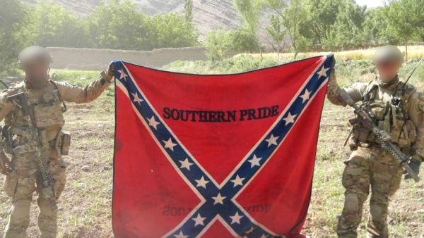 Why did Australian special forces pose with a Confederate flag in Afghanistan?