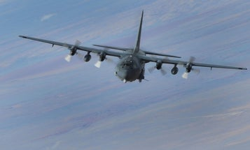 The US is using AC-130 gunships to blow targets out of the water in a clear message to Iran