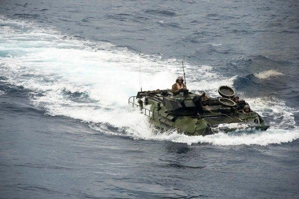 Marine Corps limited amphibious assault vehicle use after one sinks off California coast, killing one Marine