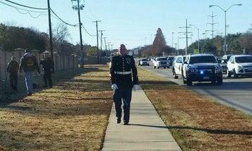Fleeing Shoplifter Surrenders To Marine Vet In His Dress Blues