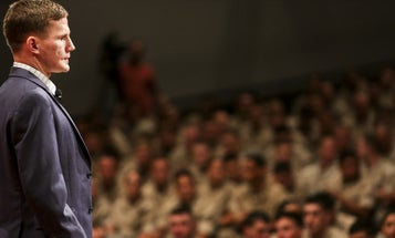 Medal Of Honor Recipient Kyle Carpenter Gets Standing Ovation At College Graduation