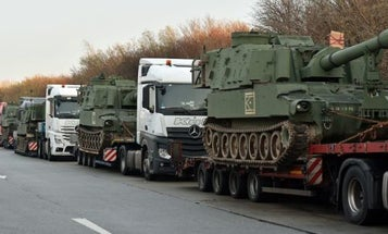 SNAFU Strands US Army Howitzers At German Rest Stop
