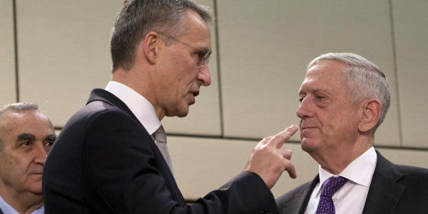Mattis On His Cleaning Up After Trump With NATO: 'I Love Reading Fiction'