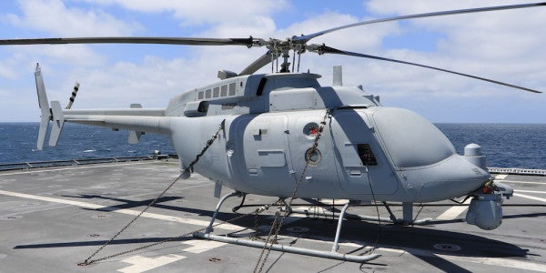 The Navy Is Testing This Unmanned Helicopter To Make Its Newest Ships More Lethal