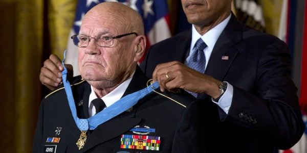 A Medal of Honor recipient describes how he was saved by a tiger and a sawed-off shotgun