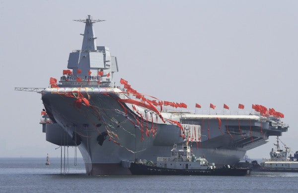 China's First Homegrown Aircraft Carrier Just Set Sail With A New Battle Group In The Making