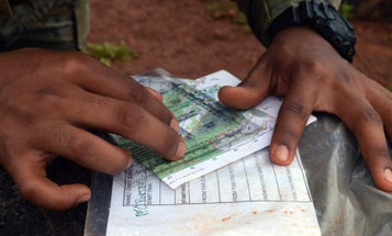 Aspiring Lieutenants Practice Getting Lost On Land Navigation Training