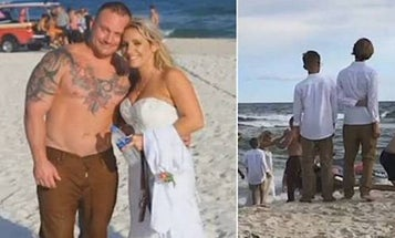 Coast Guard Officer Saves Drowning Teen Moments After Saying 'I Do'