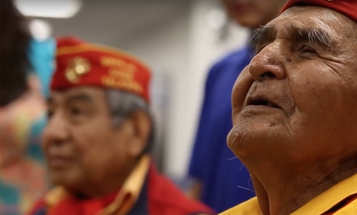 Watch a WWII Code Talker sing the Marine Corps hymn in Navajo