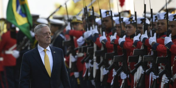 Mattis Delivered A Warning About Politicizing The Military Amid Brazil's Election Turmoil