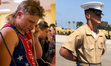 Exclusive: Here's What The 'Mullet Recruit' Looks Like Now That He's A US Marine