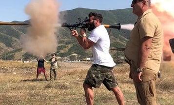 Dan Bilzerian Celebrates His Armenian Citizenship By Blowing Sh*t Up With A Bazooka