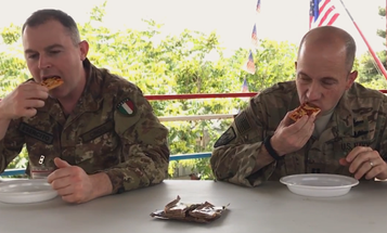 Watch Troops In Afghanistan Try The MRE Pizza For The First Time