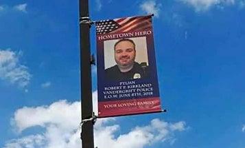 A Non-Veteran Police Officer's Memorial Banner Is Tearing A Pennsylvania Town Apart