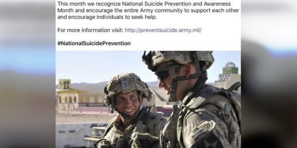 The Army Secretary Featured A Mass Murderer In The Service's Suicide Prevention Campaign
