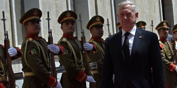 Mattis: Afghan Forces Are Increasing Their Efforts To Stop 'Green On Blue' Attacks
