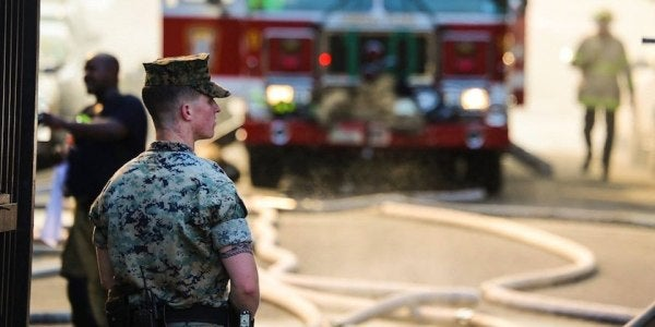 Marine Who Rushed Into Burning Building: We Came to Help Our Neighbors