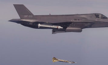 The F-35 'Combat Debut' In Afghanistan Consisted Of 2 Bombs Destroying A Weapons Cache