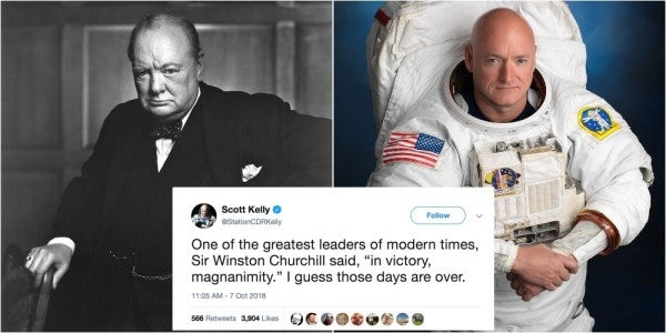 Winston Churchill, Scott Kelly, And Racism: Grow Up, Everybody