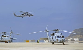 Navy Helicopters Run Right Into Each Other On A Japanese Runway