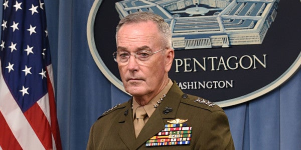 Dunford: ISIS And Al-Qaeda Will Rise Again If We Get Complacent