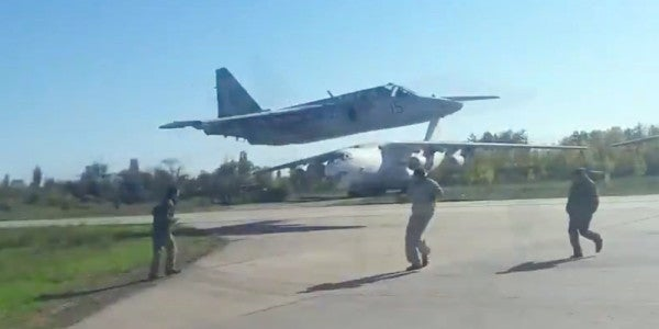 Video Shows Ukrainian Fighter Pulling Off An Insanely-Low Flyby