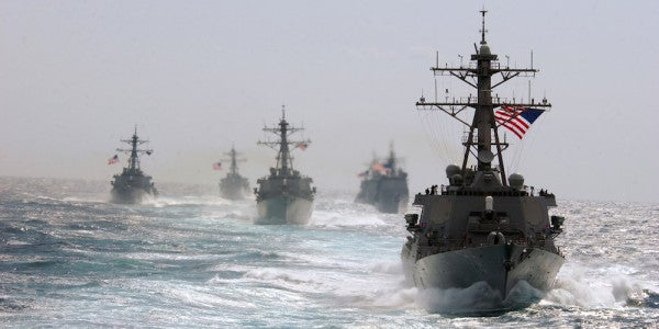 US Navy Warships Roll Through The Taiwan Strait In A Rare Signal To China