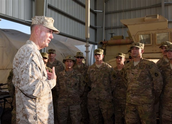 Reporter To Dunford: '2010 Called' About Your Afghan Strategy