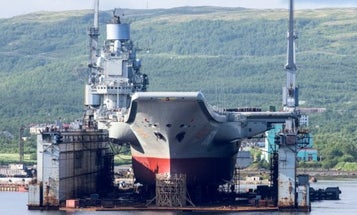 Russia's Only Aircraft Carrier Now Has A Massive Hole In Its Side