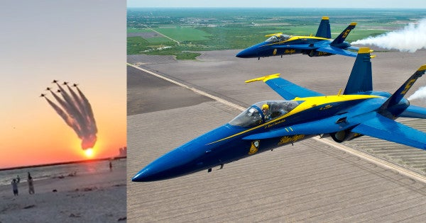 Watch The Blue Angels Fly Out Of The Sunset In This Remarkable Video