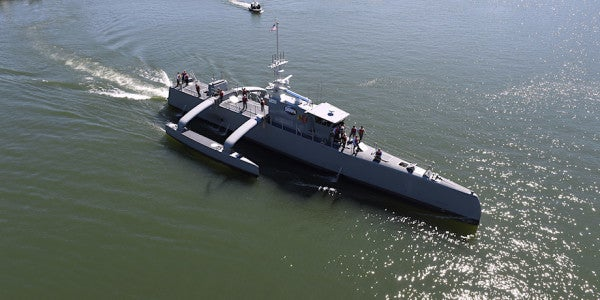 The Navy's Largest Drone Submarine Hunter Arrives At Pearl Harbor