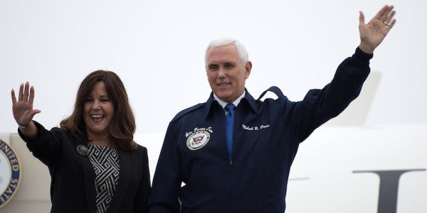 'Freedom Of Navigation': VP Pence Flies Over Disputed South China Sea In Message To Beijing