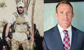 'I Got Him With My Hunting Knife': SEAL Allegedly Texted Photo Cradling ISIS Fighter's Head